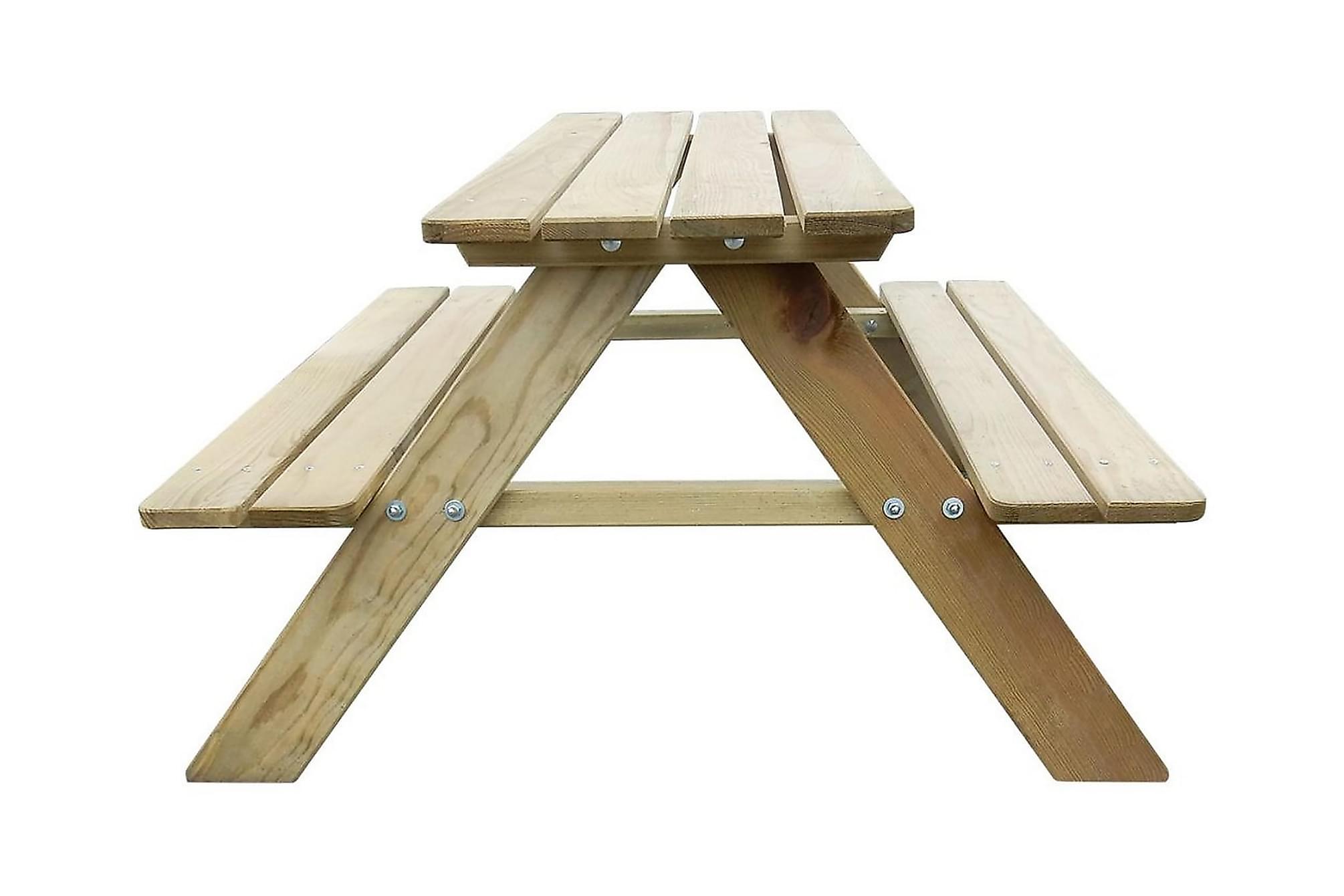 Picknickbord för barn 89 x 89,6 x 50,8 cm furu, Picknickbord