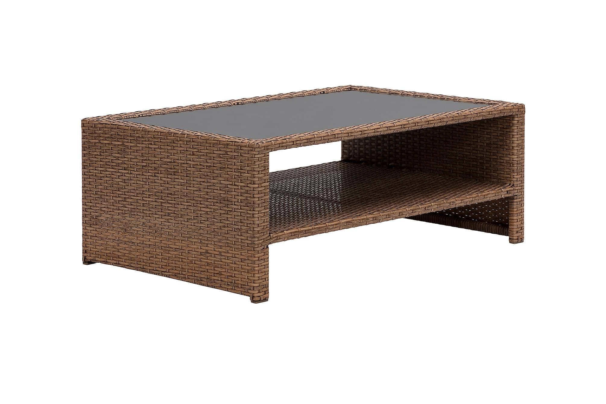LUPO Soffbord med Hylla 100×65 Natur
