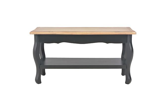 Soffbord svart och brun 87,5x42x44 cm massiv furu - Svart - Utemöbler - Utebord - Soffbord