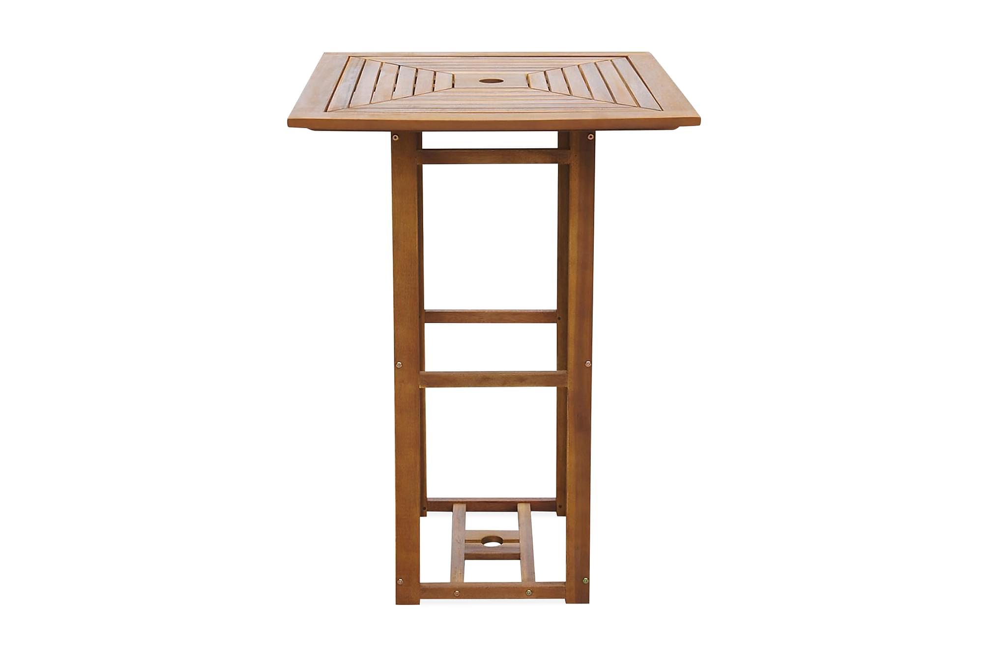 Cafébord 75x75x110 cm massivt akaciaträ, Utebord