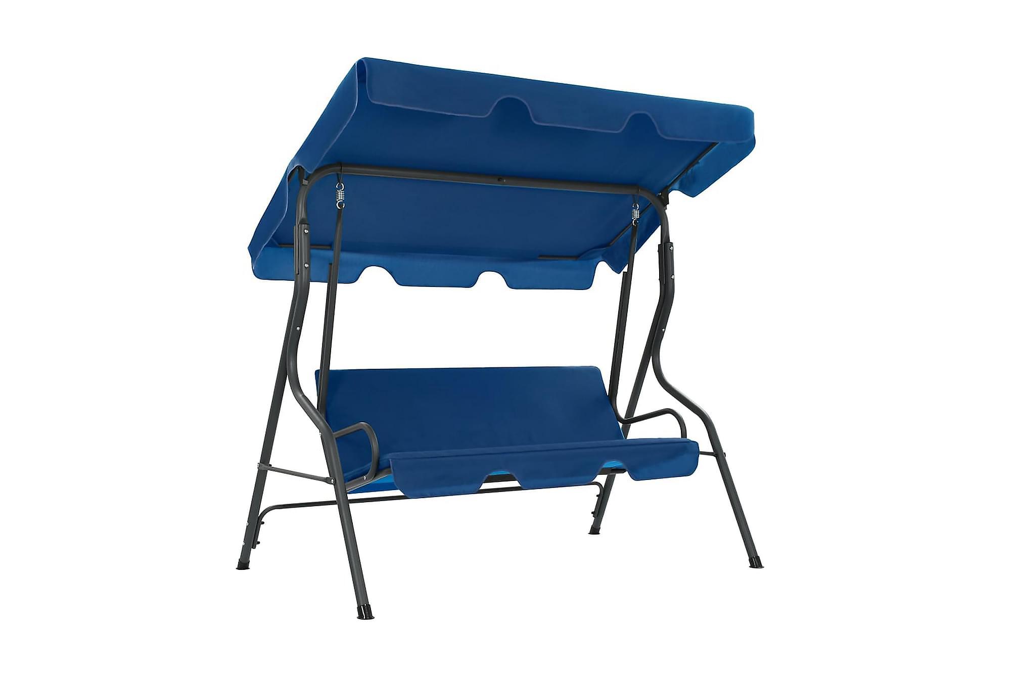 Hammock blå 170x110x153 cm tyg