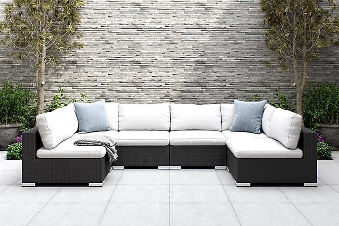 BAHAMAS Loungesoffa Large Svart - Utemöbler - Utemöbelgrupper - Loungemöbler
