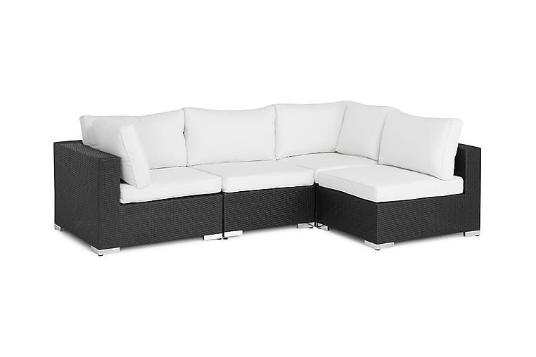 BAHAMAS Loungesoffa Small Svart - Utemöbler - Rottingmöbler - Konstrotting-soffa