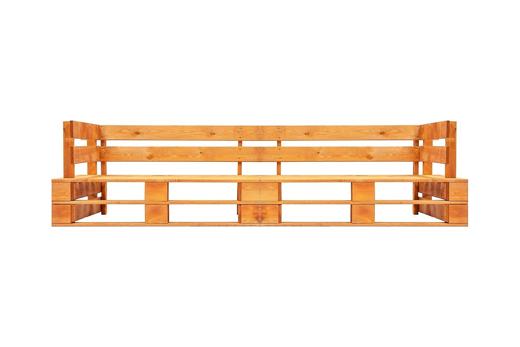 Pallsoffa 2-sits honungsbrun trä, Loungesoffa
