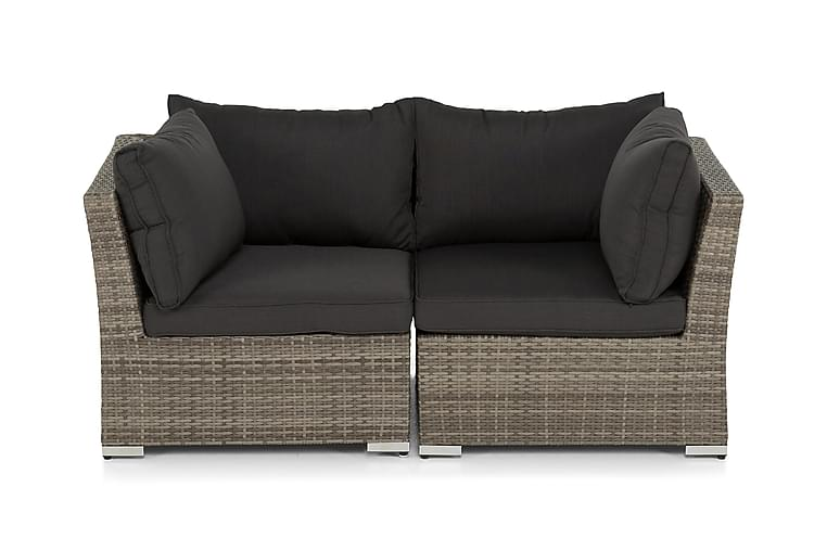 WISCONSIN Loungesoffa med Armstöd 2-sits Konstrotting/Grå - Hillerstorp - Utemöbler - Rottingmöbler - Konstrotting-soffa