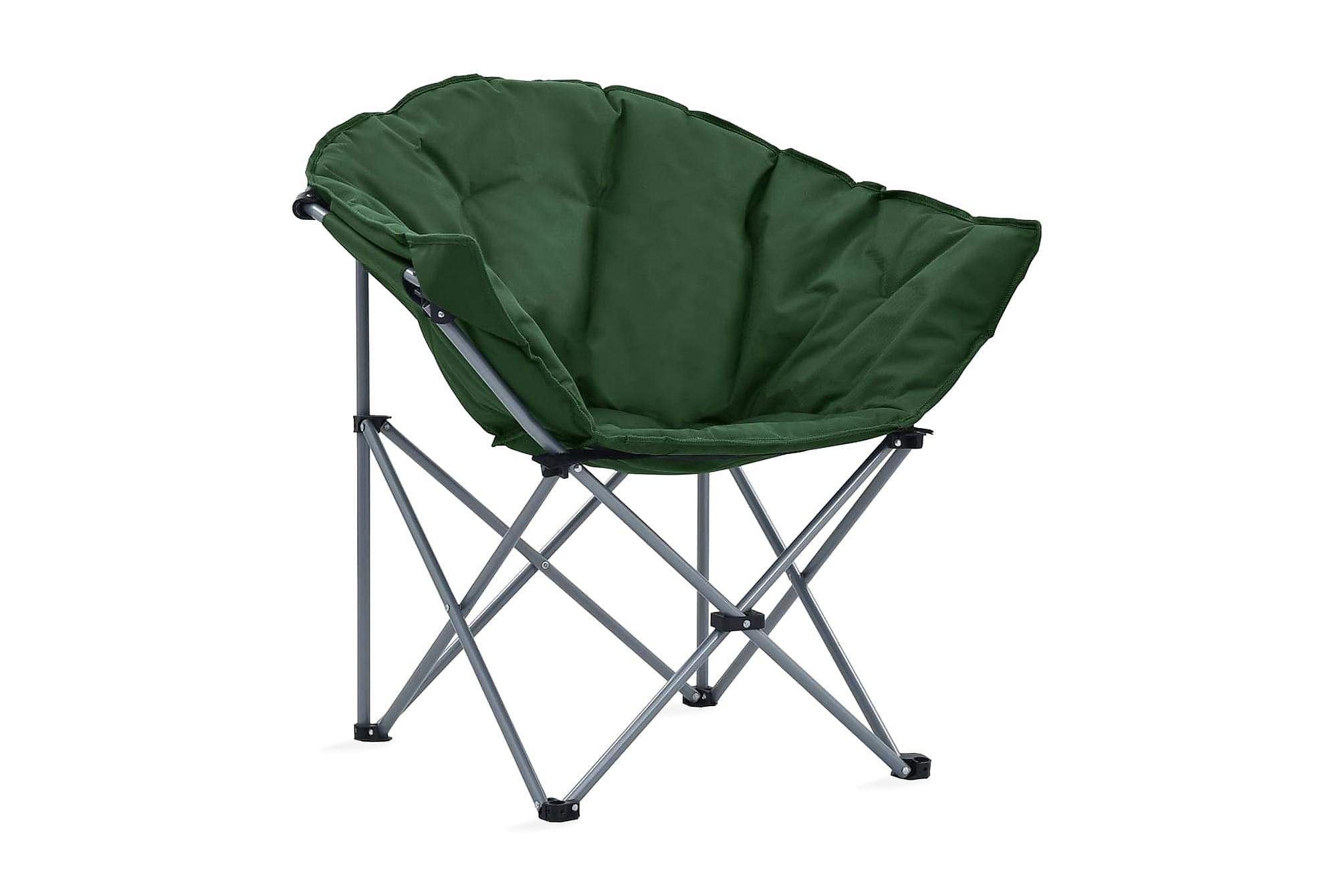 Hopfällbara månstolar 2 st grön, Campingstol
