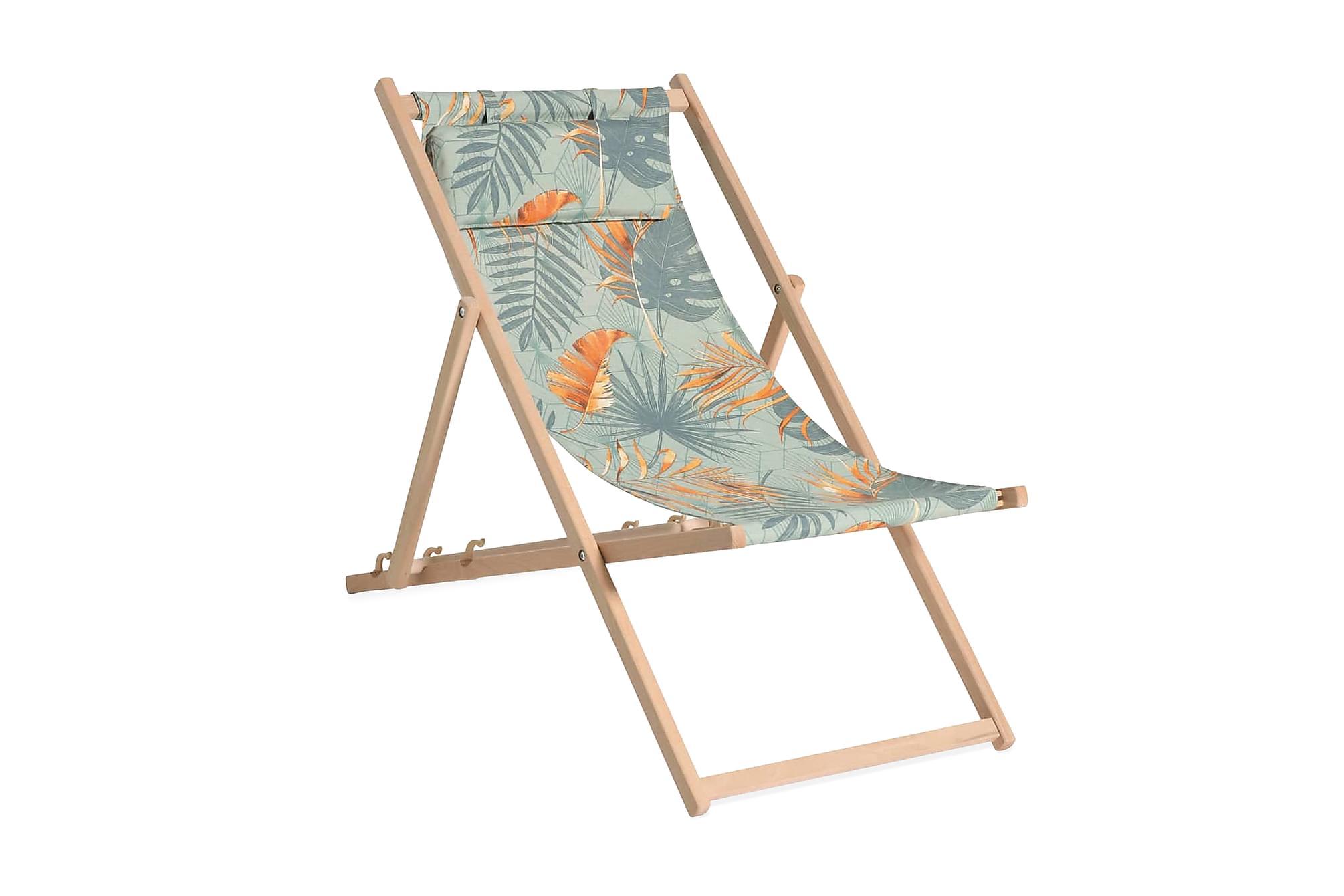 Madison Strandstol i trä Dotan blå och orange, Campingstol