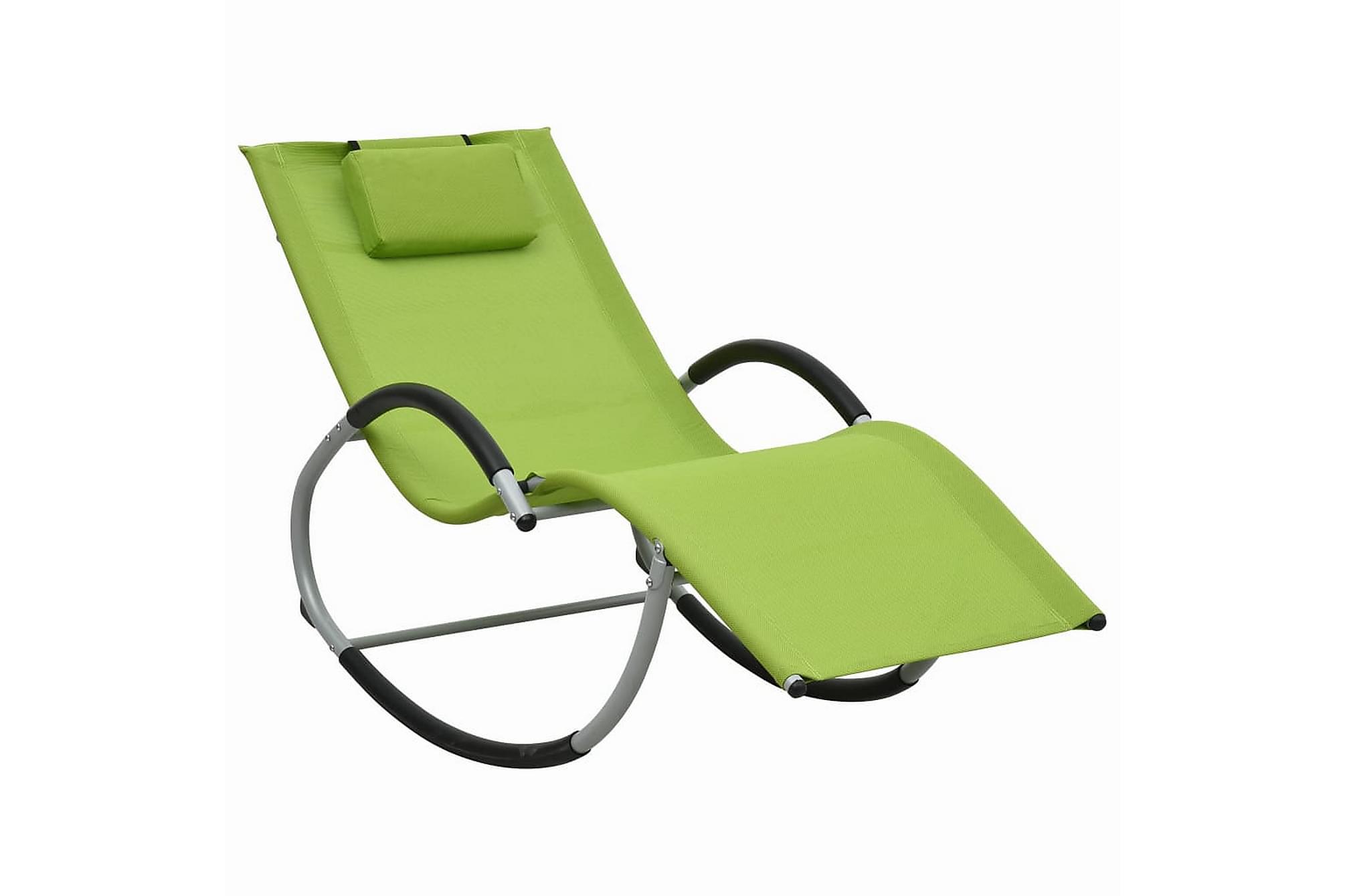 Solsäng med kudde grön textilene