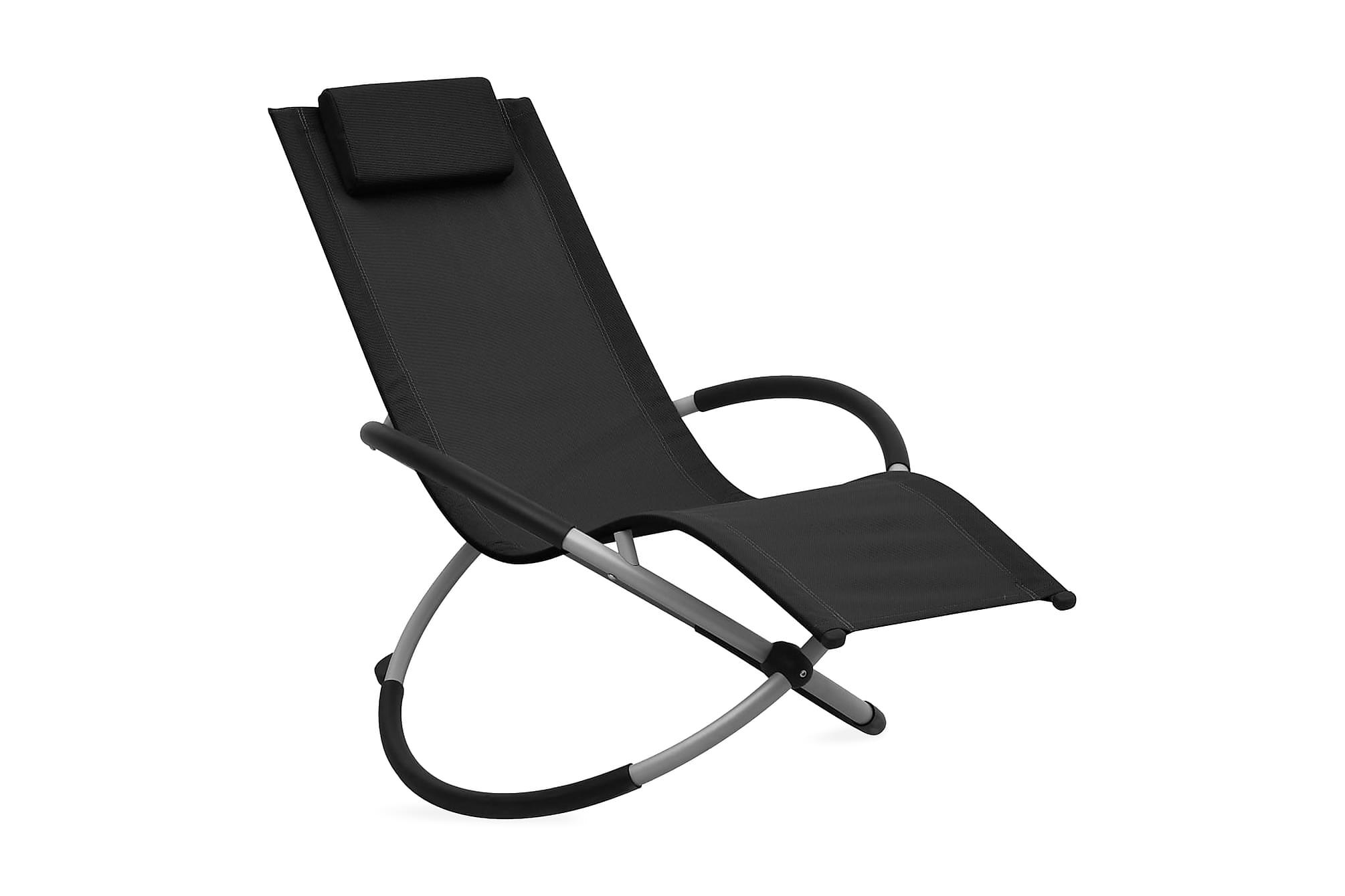 Solstol för barn stål svart