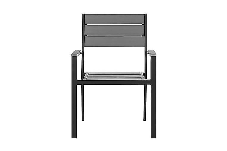PRATO Trädgårdsstol 4 st 57 cm - Utemöbler - Balkongmöbler - Balkongstolar