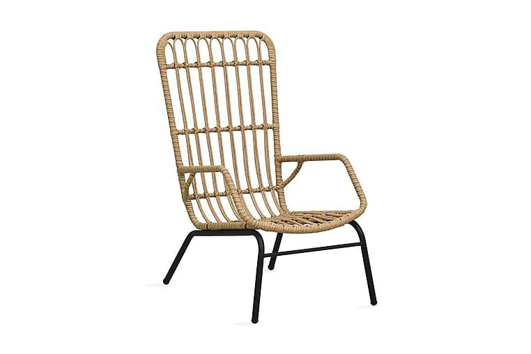 Trädgårdsstol konstrotting ljusbrun - Brun - Utemöbler - Utestolar & fåtöljer - Matstolar ute